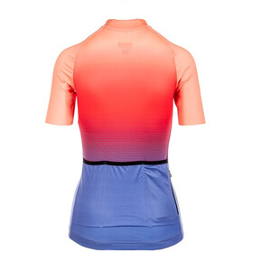 Bioracer Vesper Maillot manches courtes Femme, jupiter sunset red